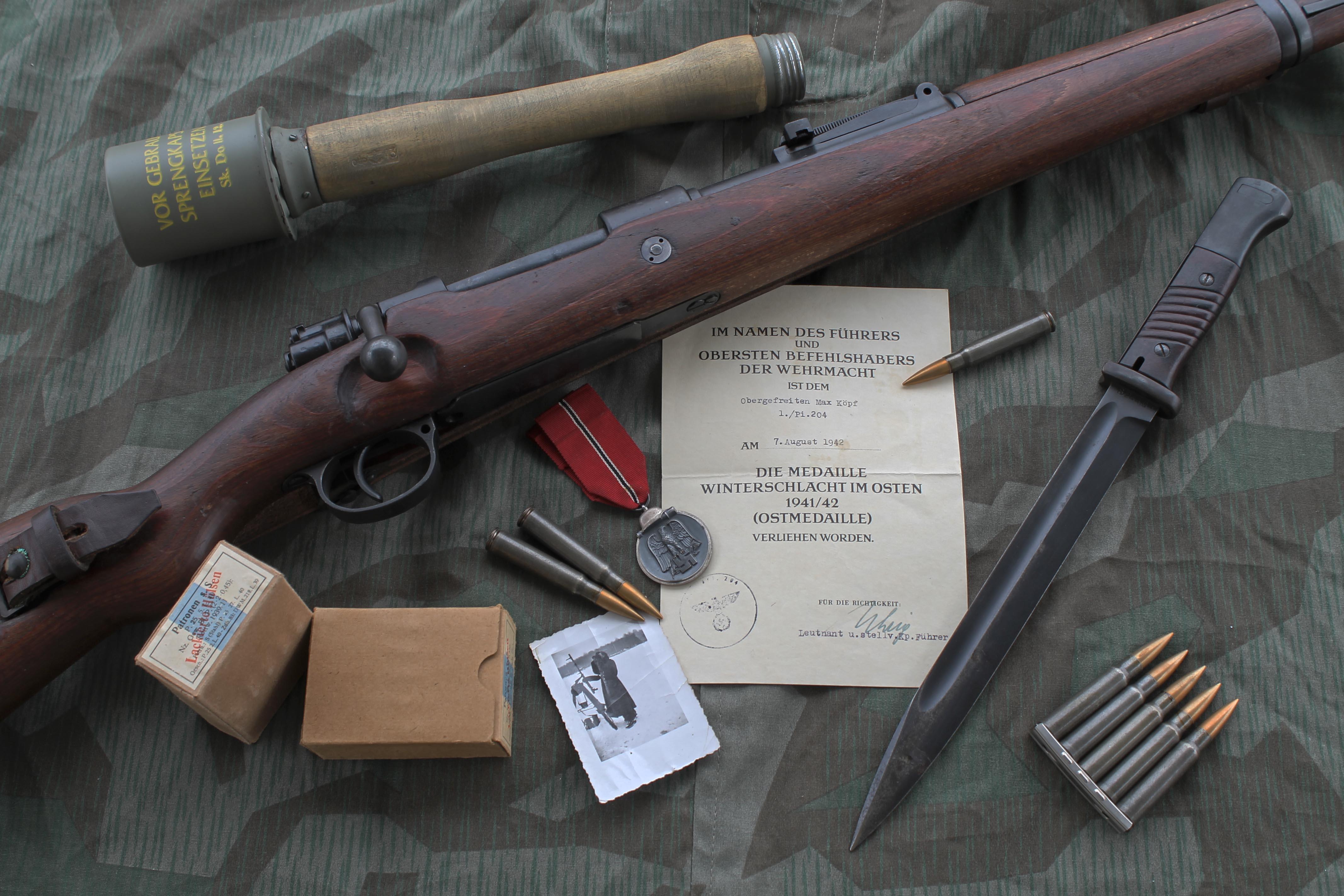 k98 mauser rifle 4k ultra hd wallpaper background image