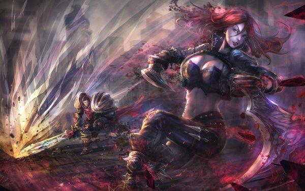 Video Game League Of Legends Katarina Garen HD Wallpaper | Background Image