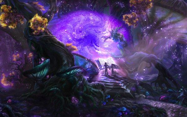 Fantasy Magic Underwater Tree People Portal HD Wallpaper | Background Image