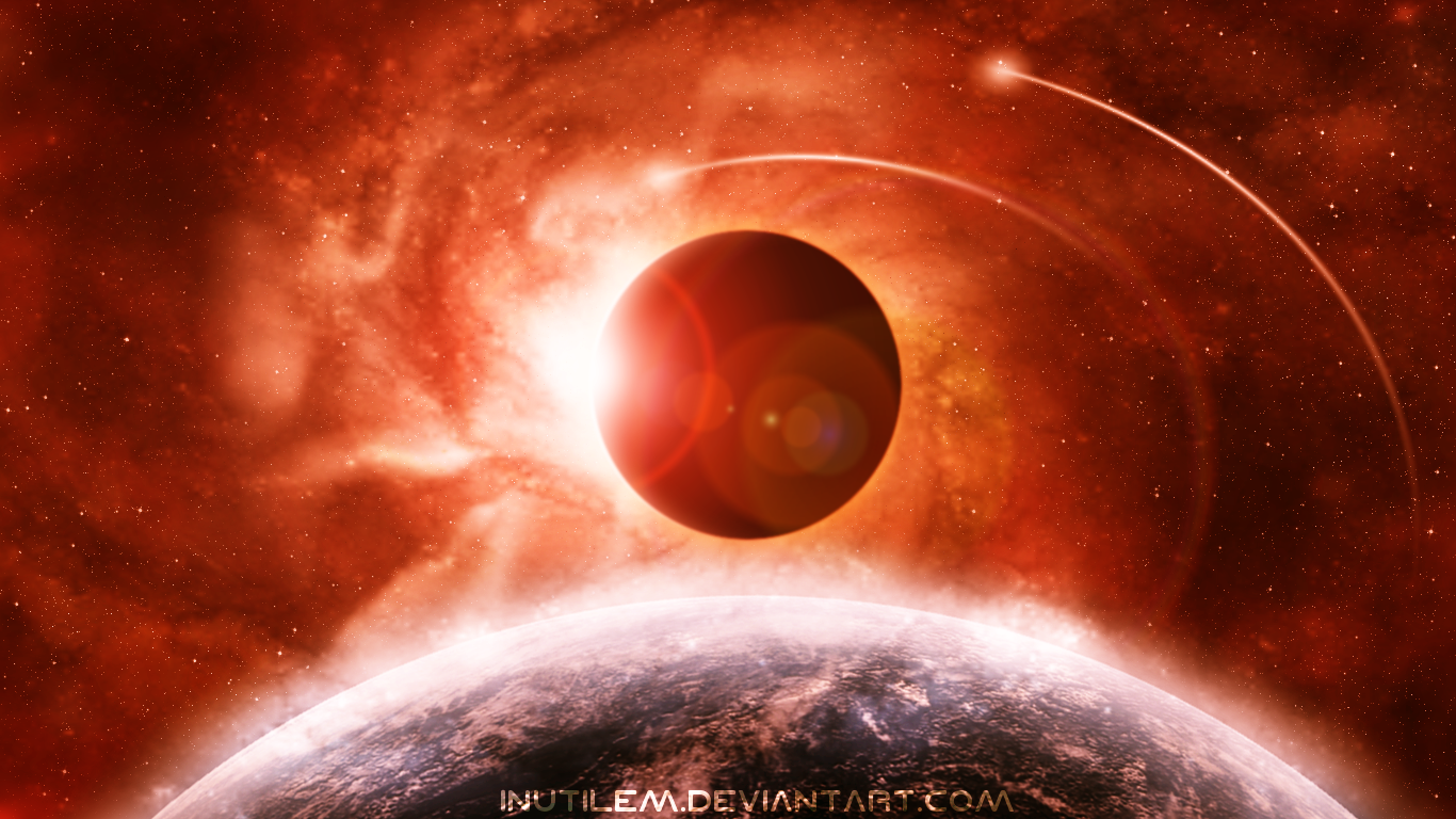 Space Universe Eclipse Hd Wallpapers Desktop: Solar Eclipse Wallpaper And Background Image