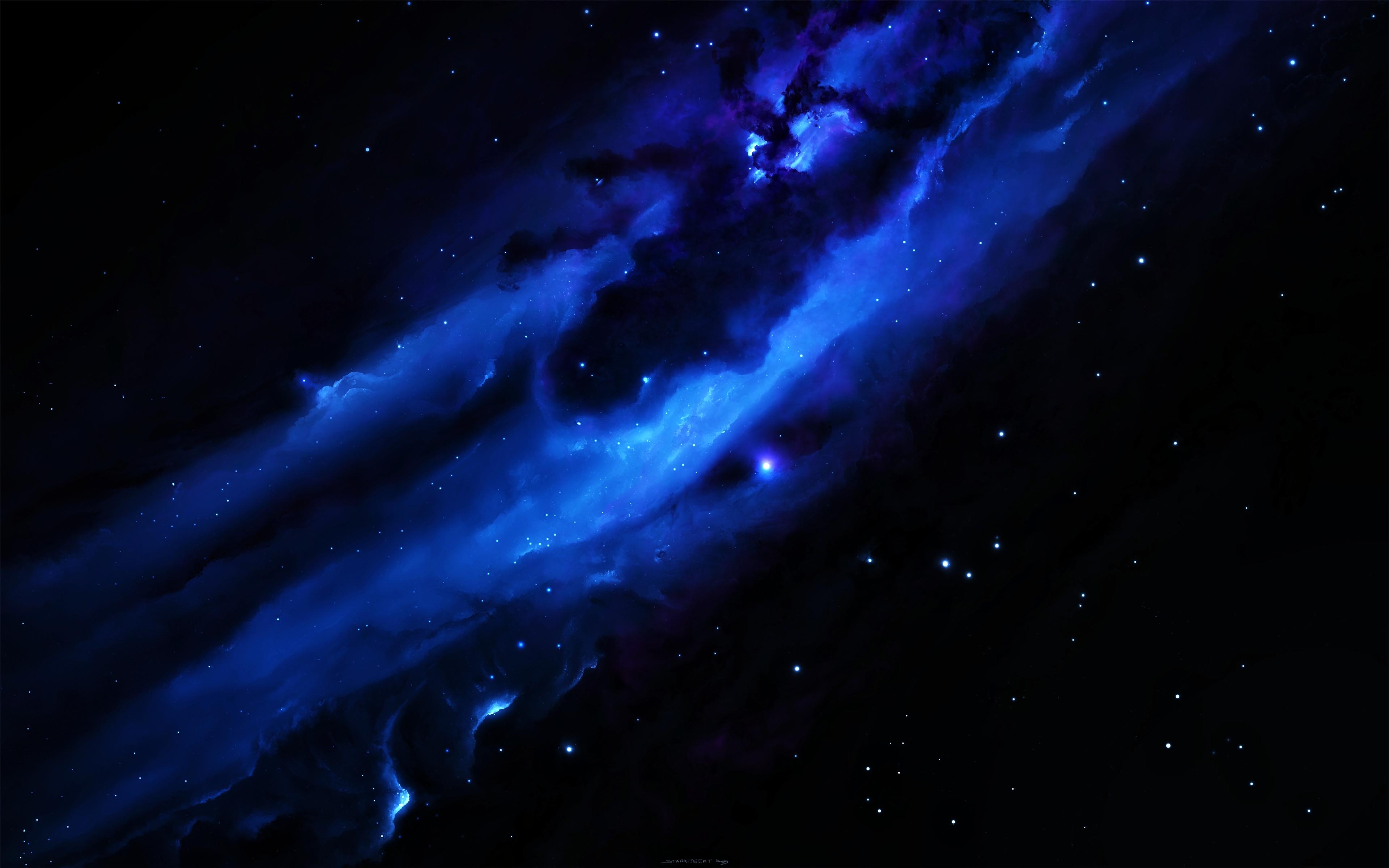 Blue galaxy 4k ultra hd fond d 39 cran and arri re plan for Fond ecran photo 4k