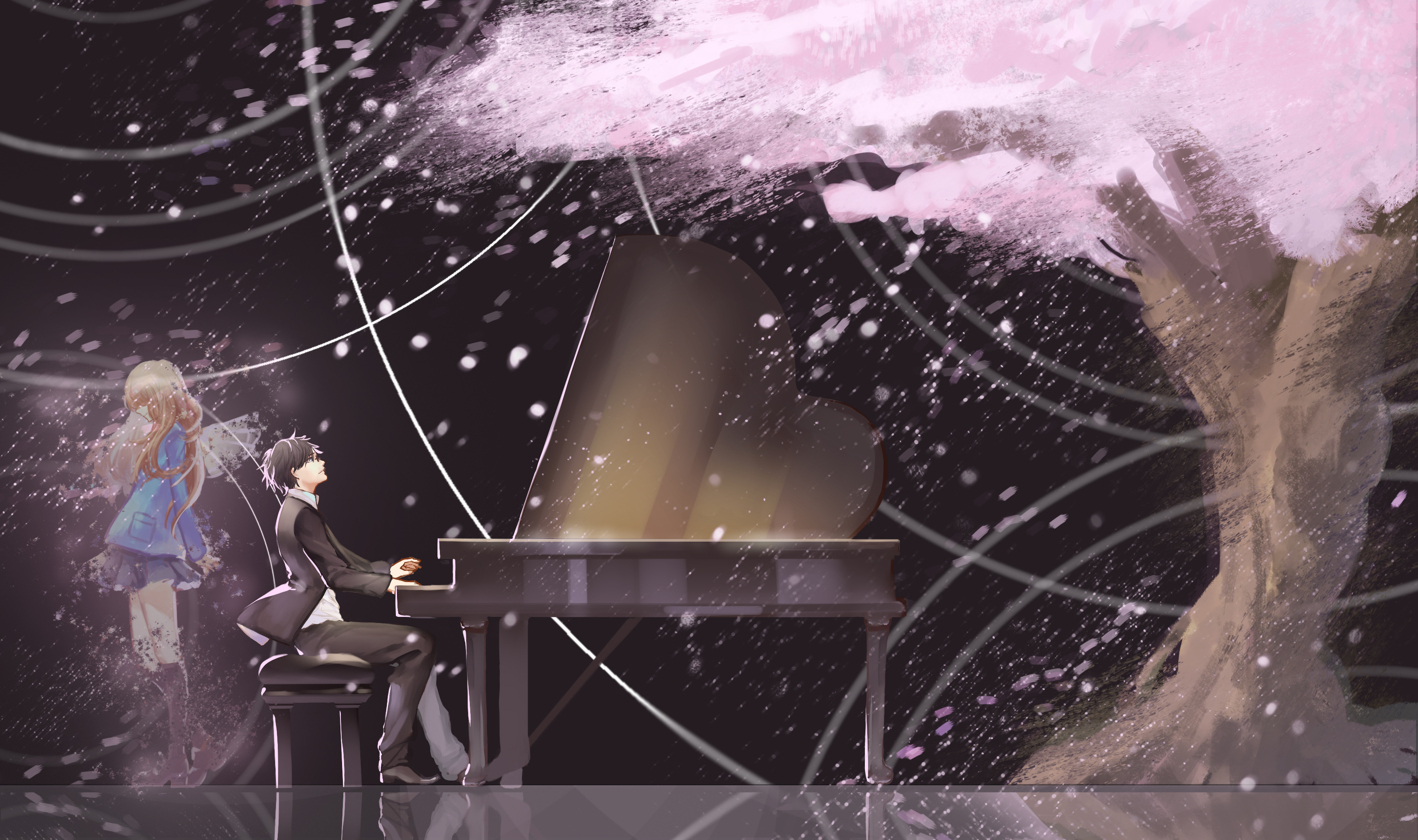 Your Lie In April Hd Wallpaper: 110 Your Lie In April HD Wallpapers