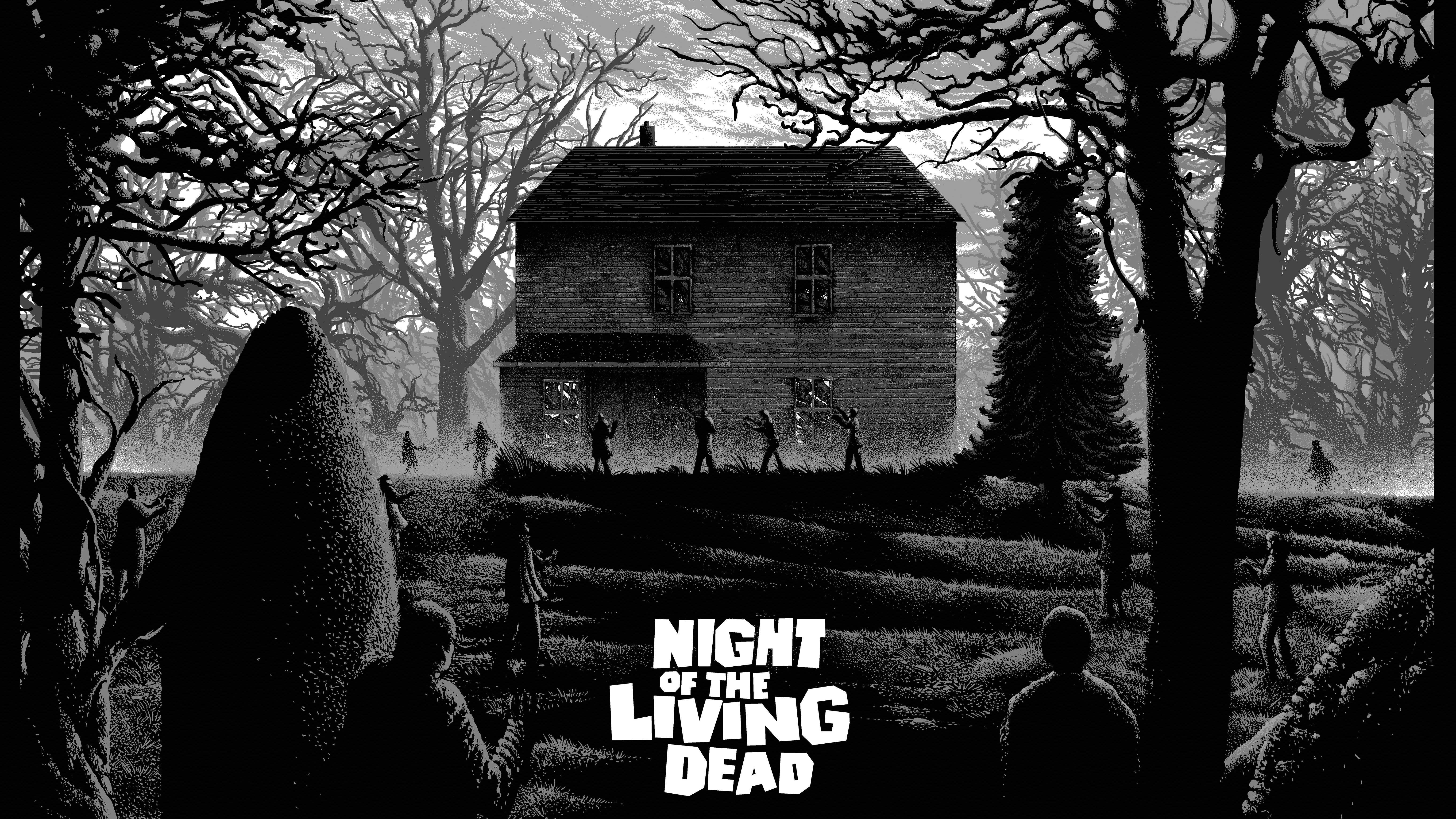 Night Of The Living Dead 5k Retina Ultra Hd Wallpaper Background