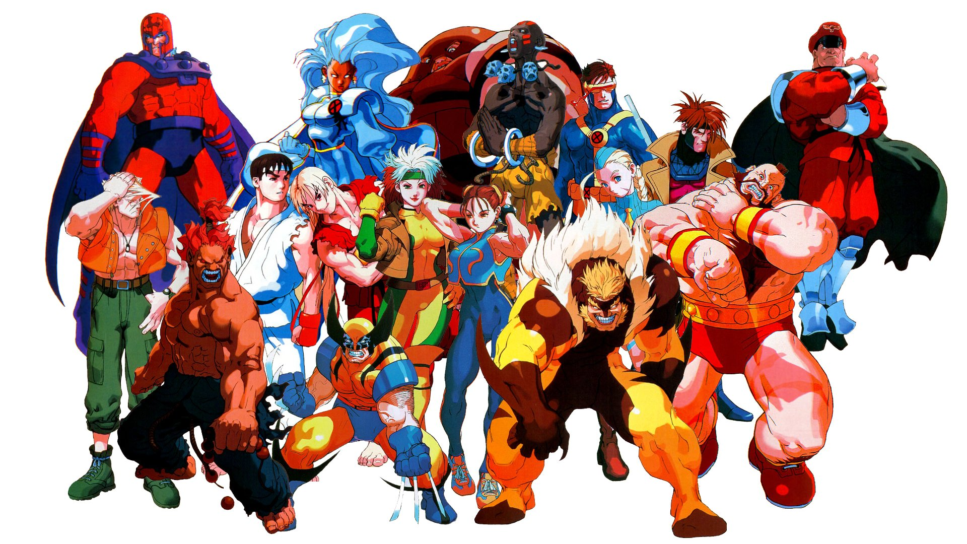 2 marvel super heroes vs. street fighter hd wallpapers | background