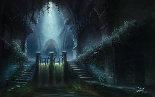 Fantaisie Ruine Fond d'écran HD | Arrière-Plan