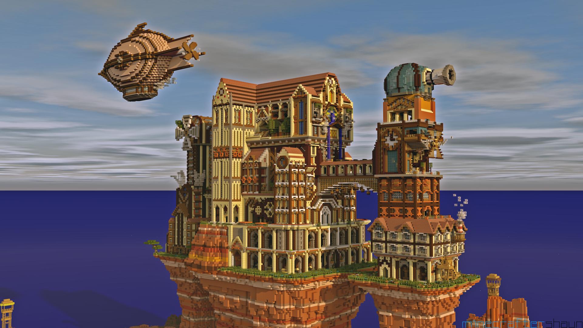 Video Game - Minecraft  Steampunk Wallpaper