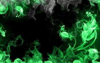 Green Fire Wallpaper Background HD Wallpaper  Background ID