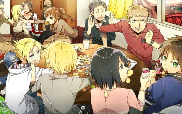 Anime Attack On Titan Eren Yeager Armin Arlert Mikasa Ackerman Annie Leonhart Jean Kirstein Reiner Braun Ymir Sasha Blouse HD Wallpaper | Background Image