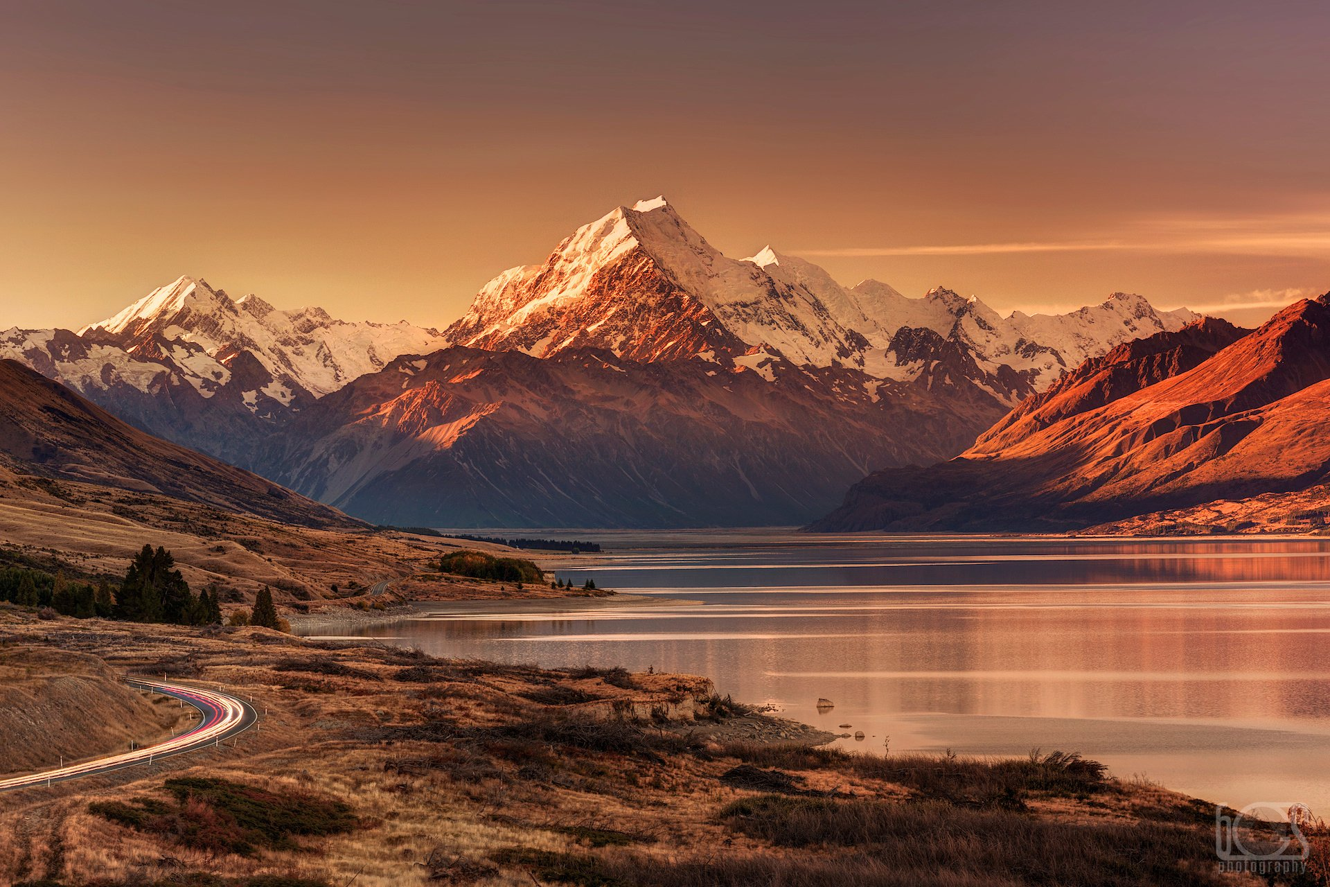 aoraki/mt cook at sunset hd wallpaper | background image | 1920x1280