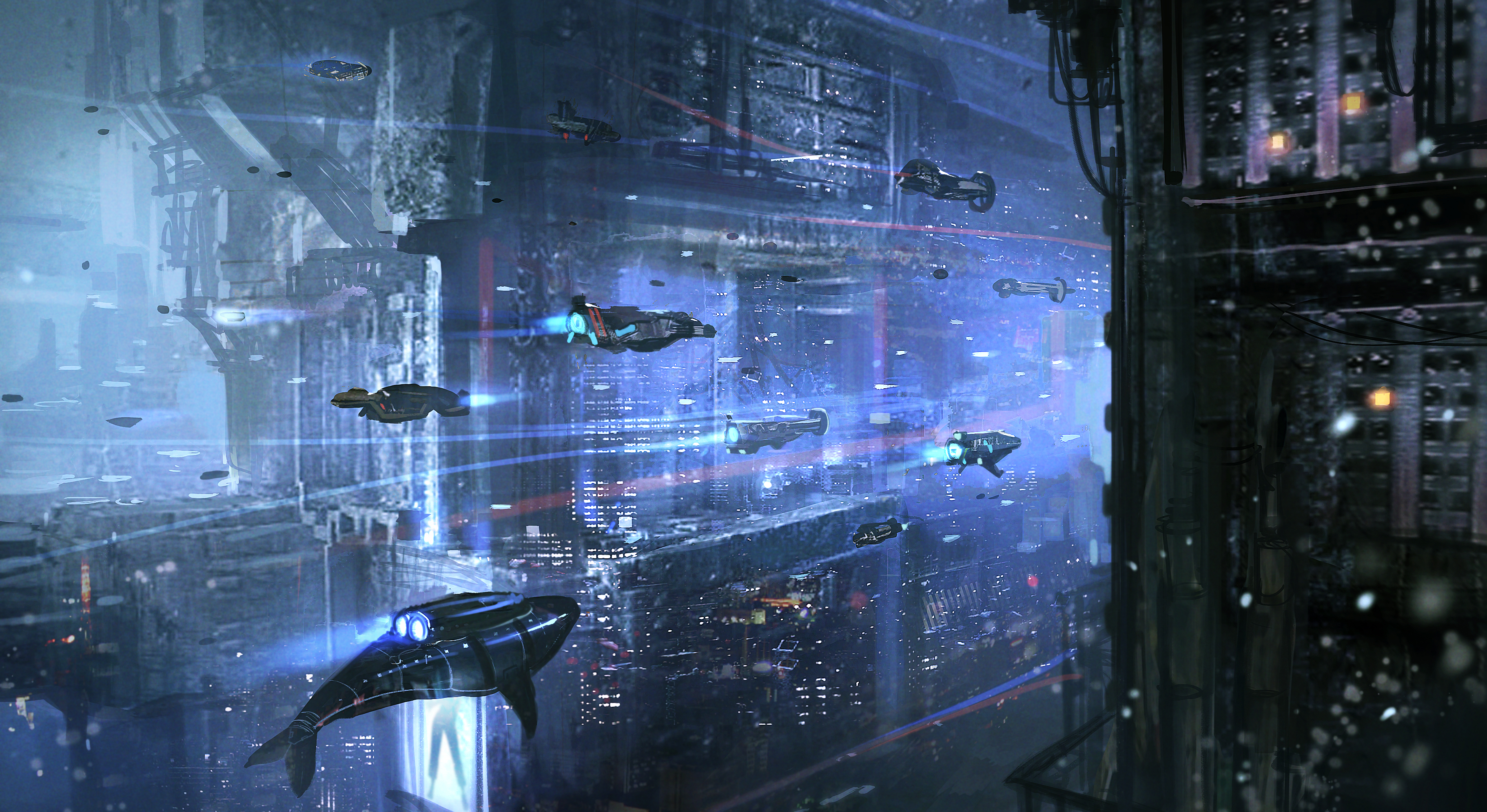 Underwater cyberpunk city full hd wallpaper and background image sci fi cyberpunk wallpaper voltagebd Choice Image