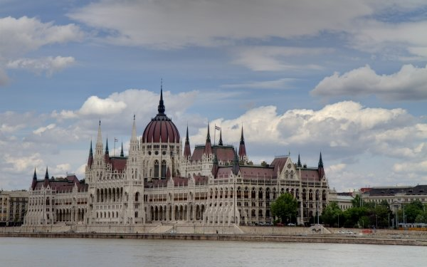 Man Made Hungarian Parliament Building Monuments Hungary Budapest Architecture Danube HD Wallpaper | Background Image
