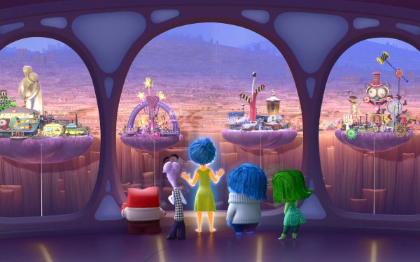 Movie Inside Out Joy Sadness Fear Disgust Anger HD Wallpaper | Background Image