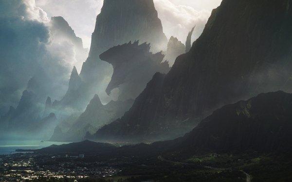 Fantasy Landscape Godzilla HD Wallpaper   Background Image