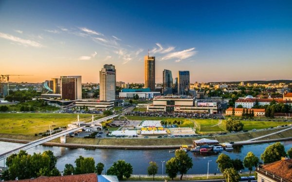 Man Made Vilnius Cities Lithuania HD Wallpaper | Background Image