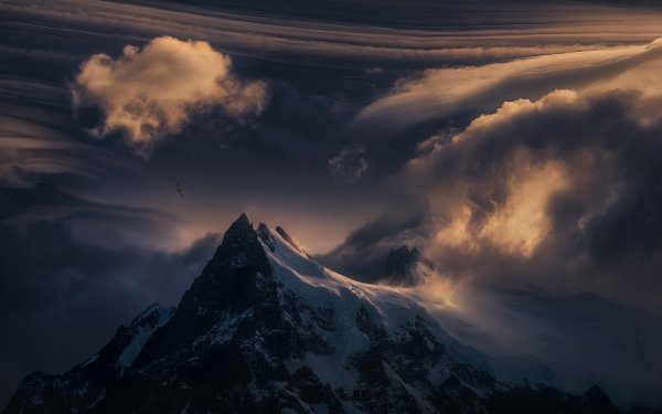 Earth Mountain Mountains Nature Snow Bird Patagonia Cloud HD Wallpaper | Background Image