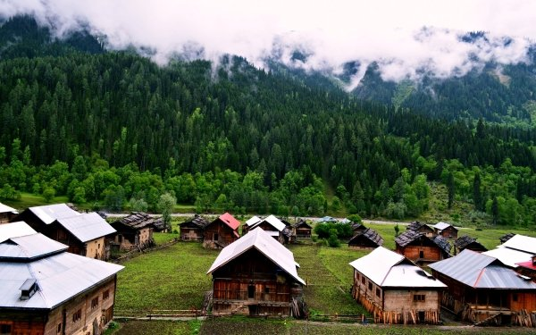 Photography Landscape Village Hut House Forest Mountain Kashmir Pakistan HD Wallpaper   Background Image