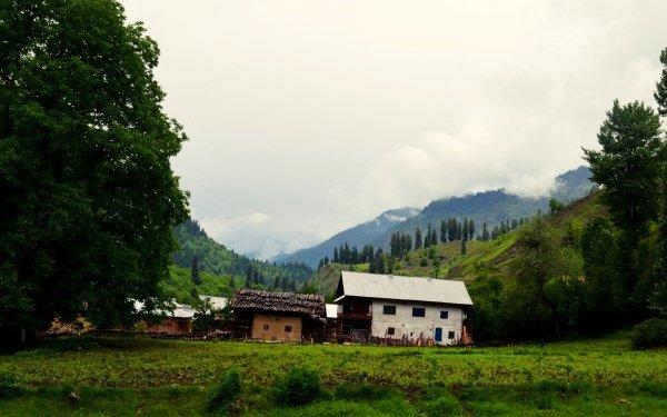 Photography Landscape Village Kashmir Pakistan Countryside Hut Hill Mountain HD Wallpaper   Background Image