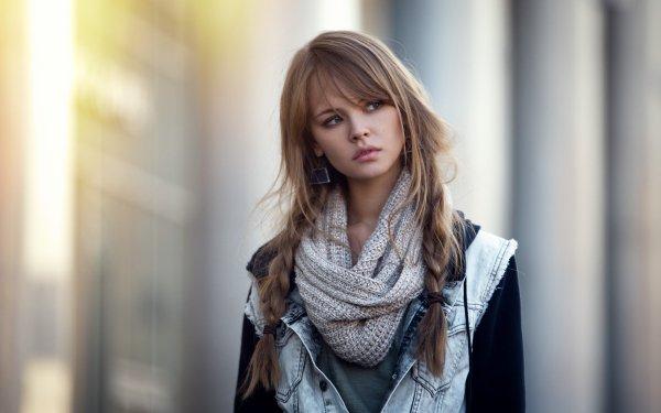 Frauen Anastasiya Scheglova Models Russland Modell Bokeh Braid Earrings Brünette HD Wallpaper | Hintergrund