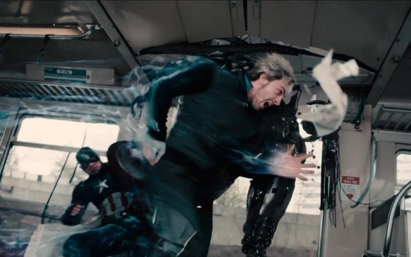 Movie Avengers: Age of Ultron The Avengers Quicksilver Captain America HD Wallpaper | Background Image