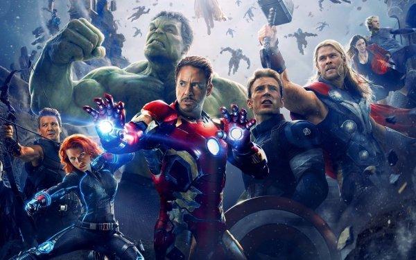 Film Avengers : L'ère d'Ultron Avengers Hulk Thor Œil-de-Faucon Veuve Noire Iron Man Captain America Nick Fury Sorcière rouge Quicksilver Fond d'écran HD | Image