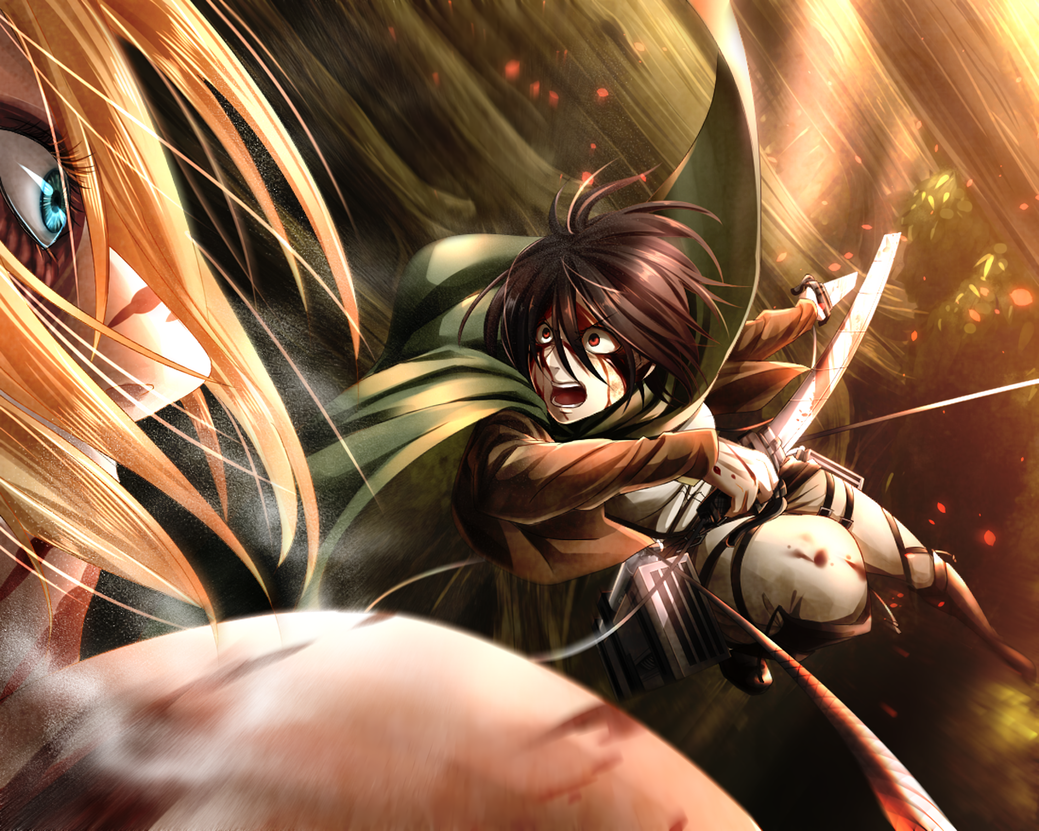 Mikasa ackerman vs annie leonhart titan wallpaper and background anime attack on titan annie leonhart mikasa ackerman wallpaper voltagebd Image collections