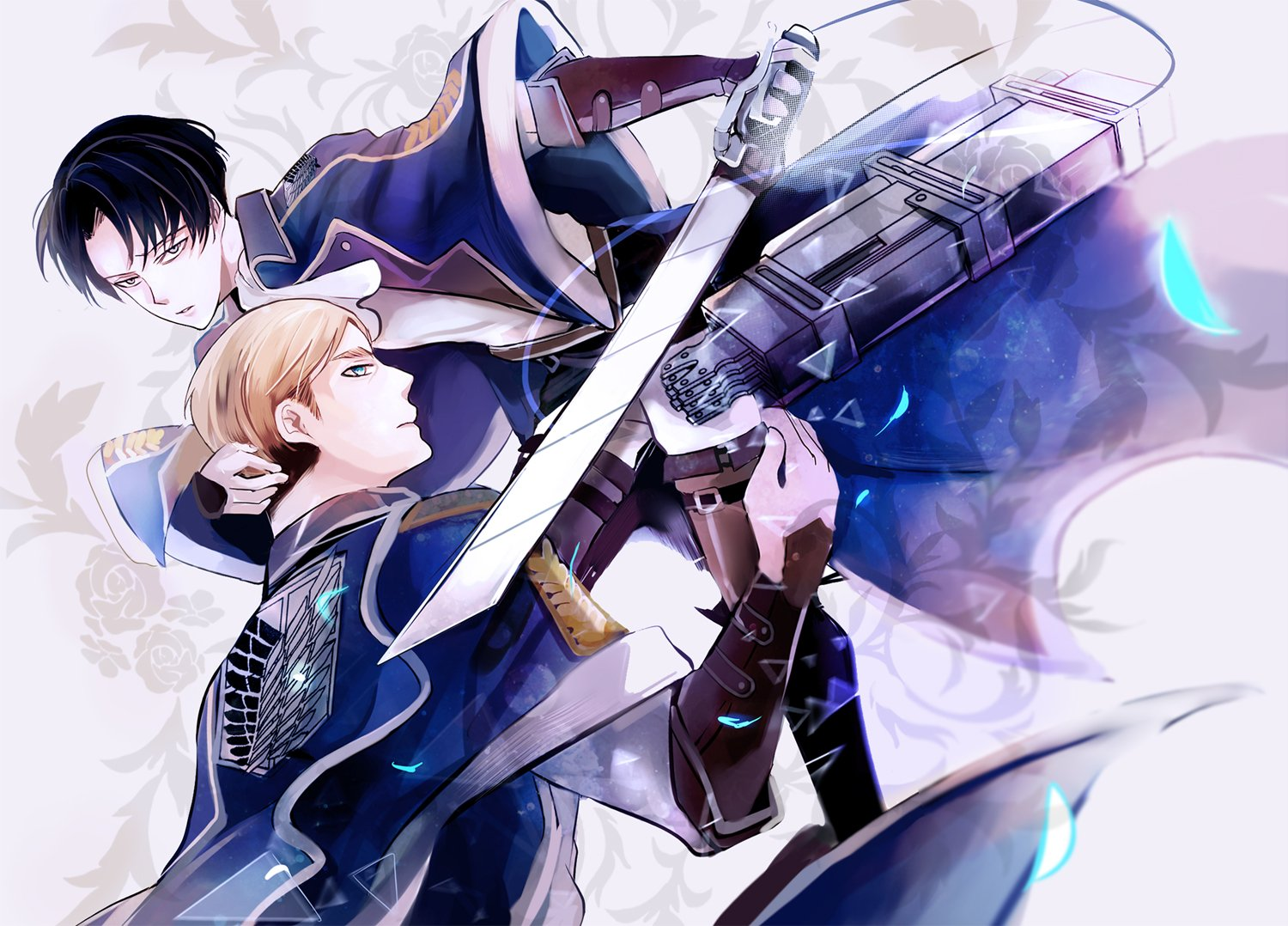 shingeki no kyojin erwin smith and levi ackerman