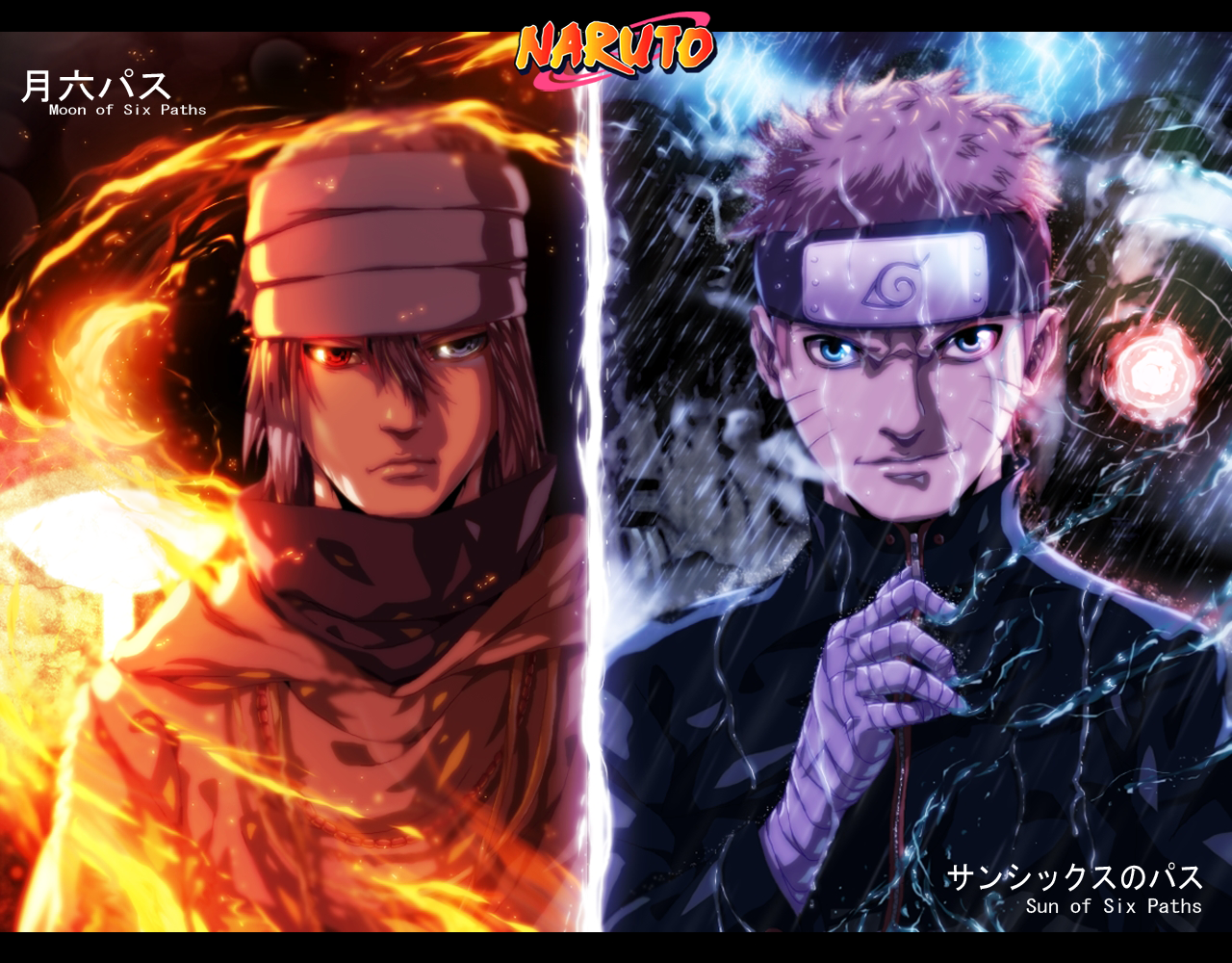 Sasuke Moon Of Six Paths And Naruto Sun Of Six Paths Hd