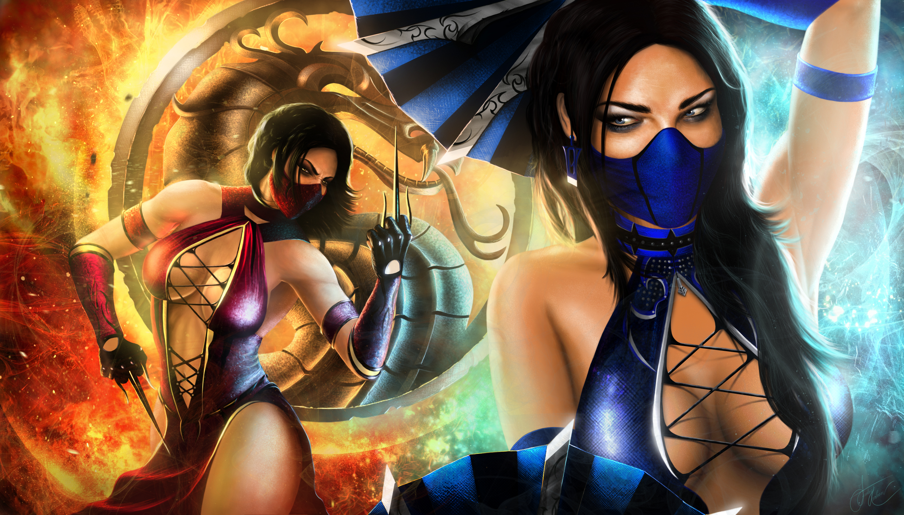 Mileena VS Kitana HD Wallpaper