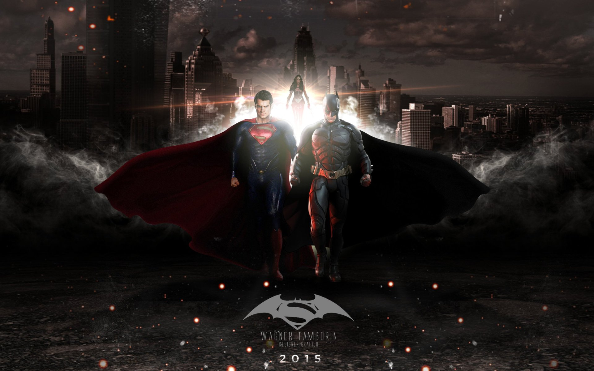 Movie - Batman v Superman: Dawn of Justice  Wonder Woman Batman Superman Wallpaper