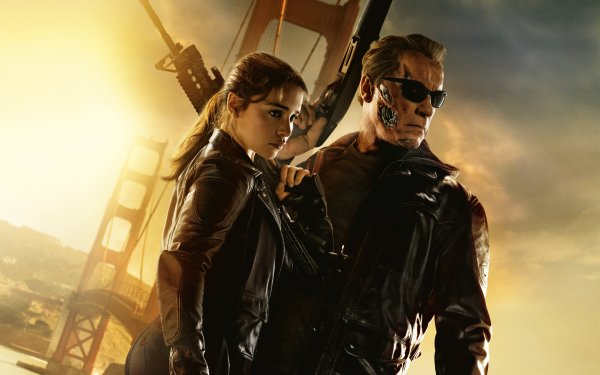 Movie Terminator Genisys Terminator Emilia Clarke Arnold Schwarzenegger HD Wallpaper | Background Image