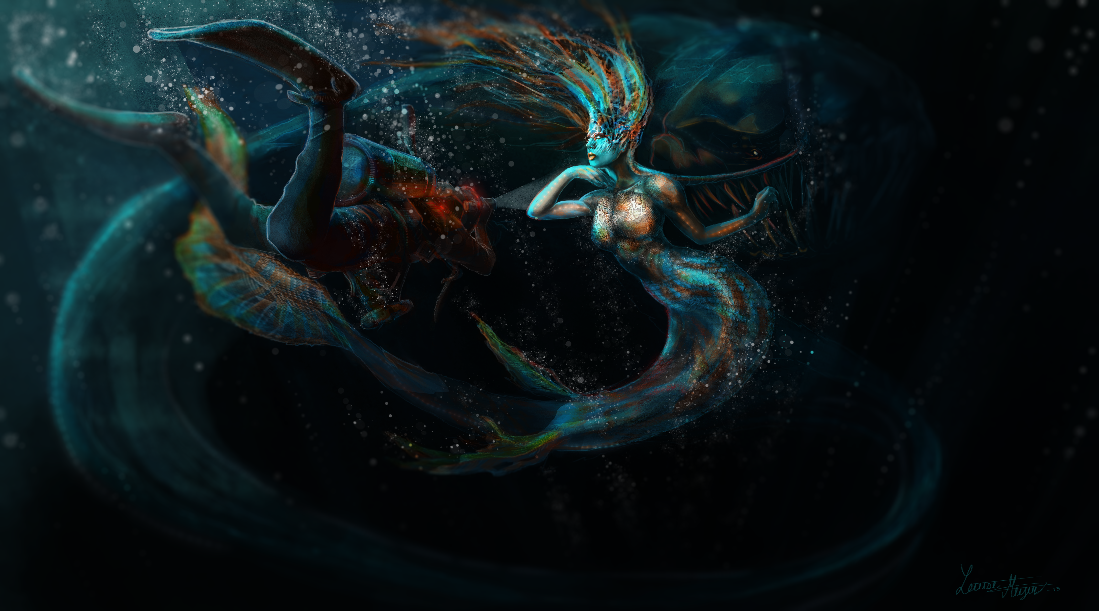 Into the deep 4k ultra hd wallpaper background image - Mermaid wallpaper hd ...