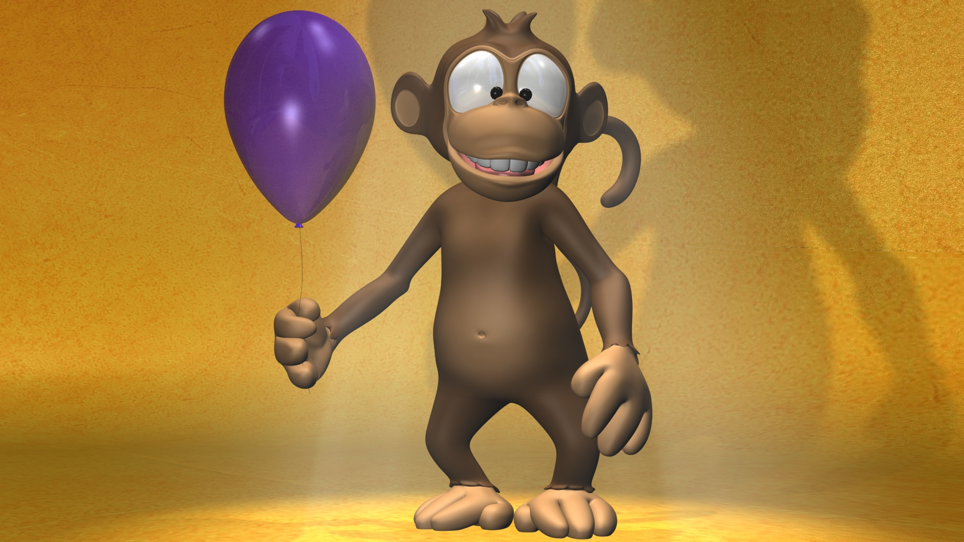 Cartoon Monkey 3D Full HD Wallpaper And Background Image