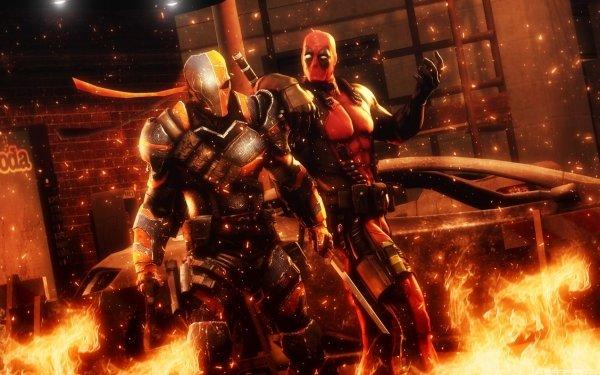 Bande-dessinées Deadpool Vs. Deathstroke Deadpool Fond d'écran HD | Arrière-Plan