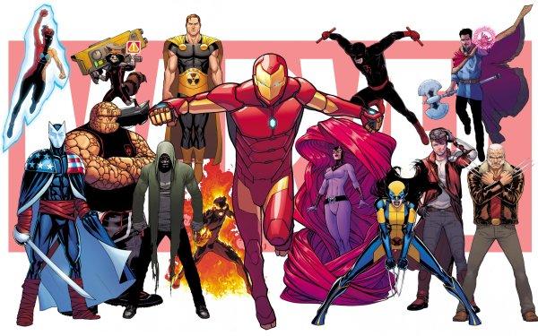 Bande-dessinées Marvel Comics Hyperion Daredevil Docteur Strange Thing Ben Grimm Iron Man X-23 Wolverine Inhumans Karnak Star Lord Peter Quill Old Man Logan Rocket Raccoon Medusa Fond d'écran HD | Image
