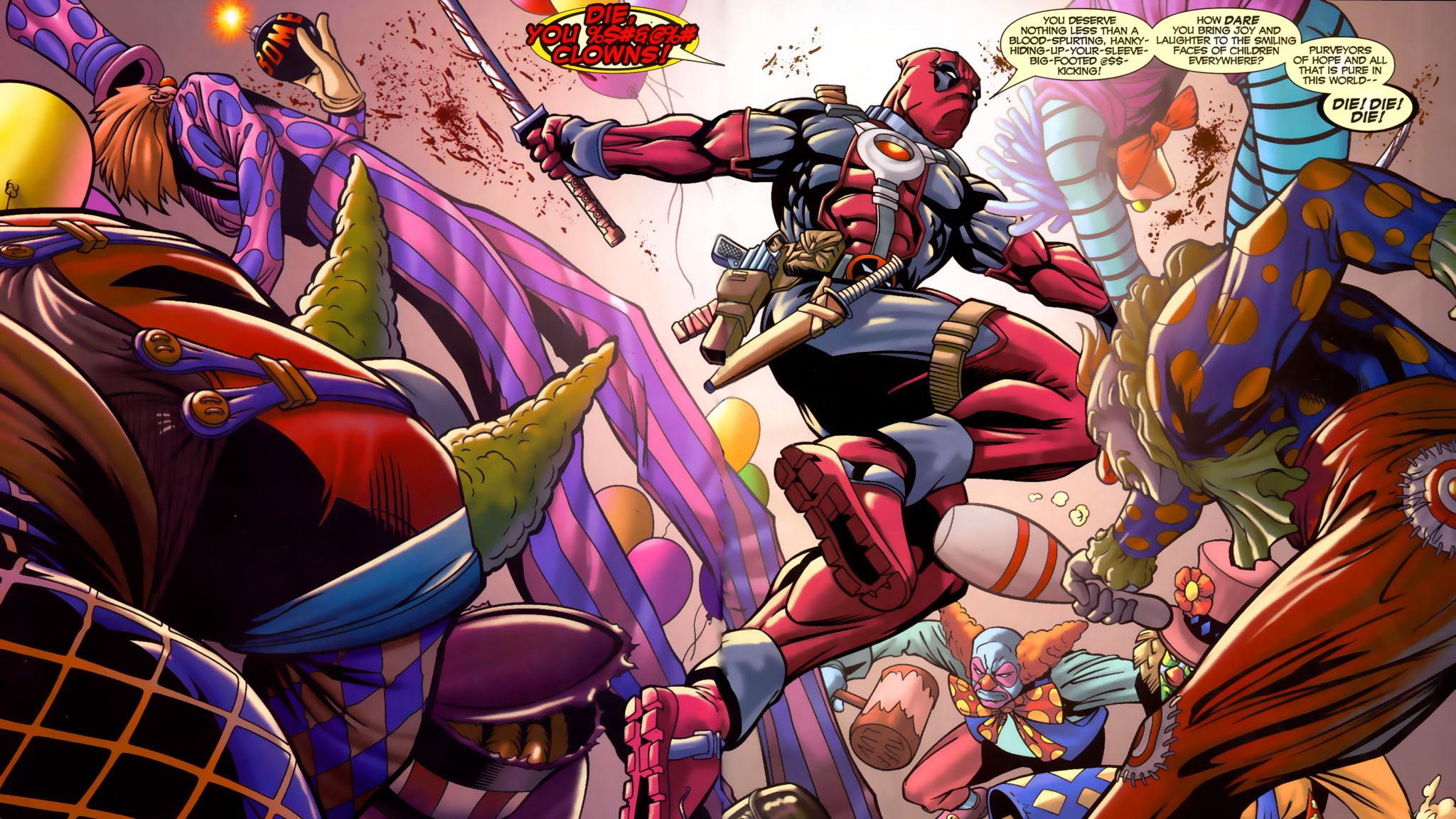 Deadpool Hd Wallpaper Background Image 2048x1152 Id 620315