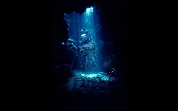 Fantasía Underwater Colores Formas Textura Artístico Abstracto CGI Cueva Reef Fondo de pantalla HD | Fondo de Escritorio