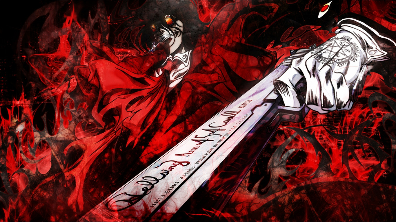 Hellsing wallpaper and background image 1366x768 id - Anime hellsing wallpaper ...