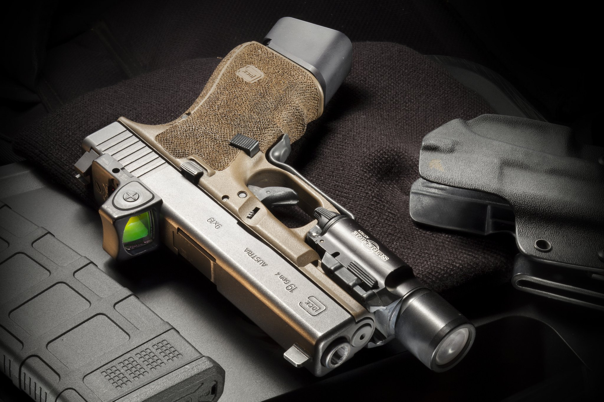 Glock 19 Gen4 Full HD Wallpaper And Background Image
