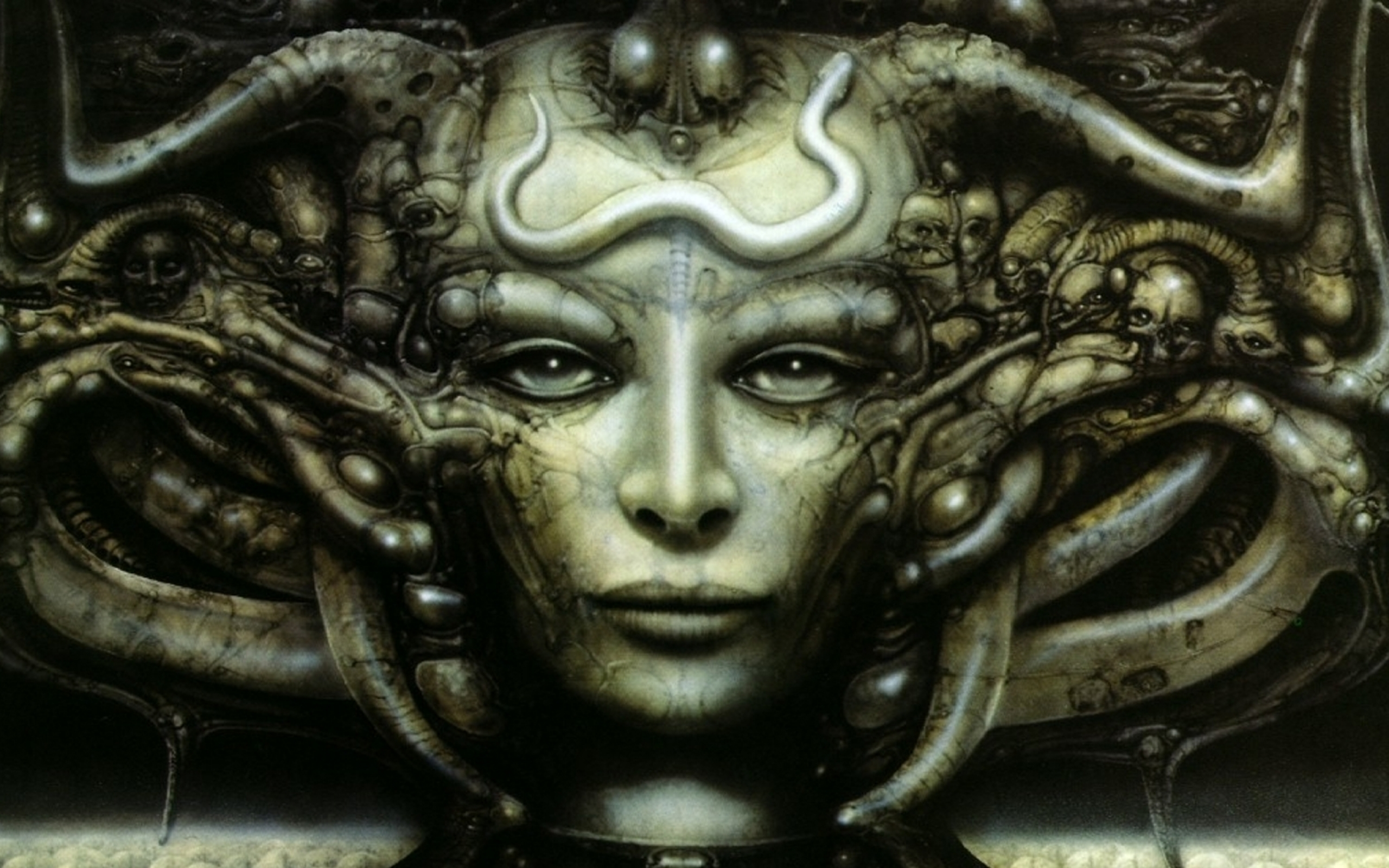 H R Giger S Necronomicon Hd Wallpaper Background Image