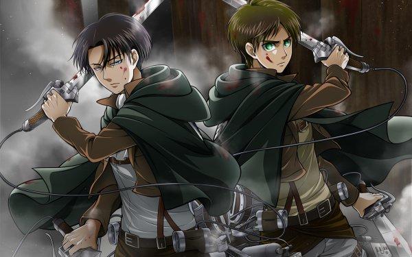 Anime Attack On Titan Eren Yeager Levi Ackerman HD Wallpaper | Background Image