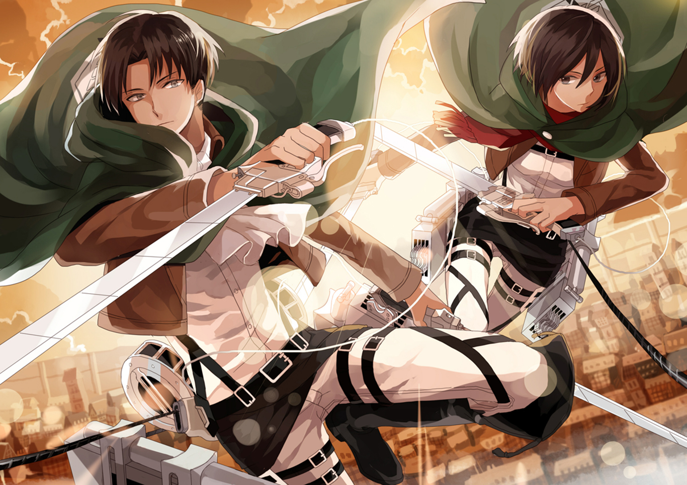 Attack On Titan Wallpaper and Background Image | 1366x965 ...