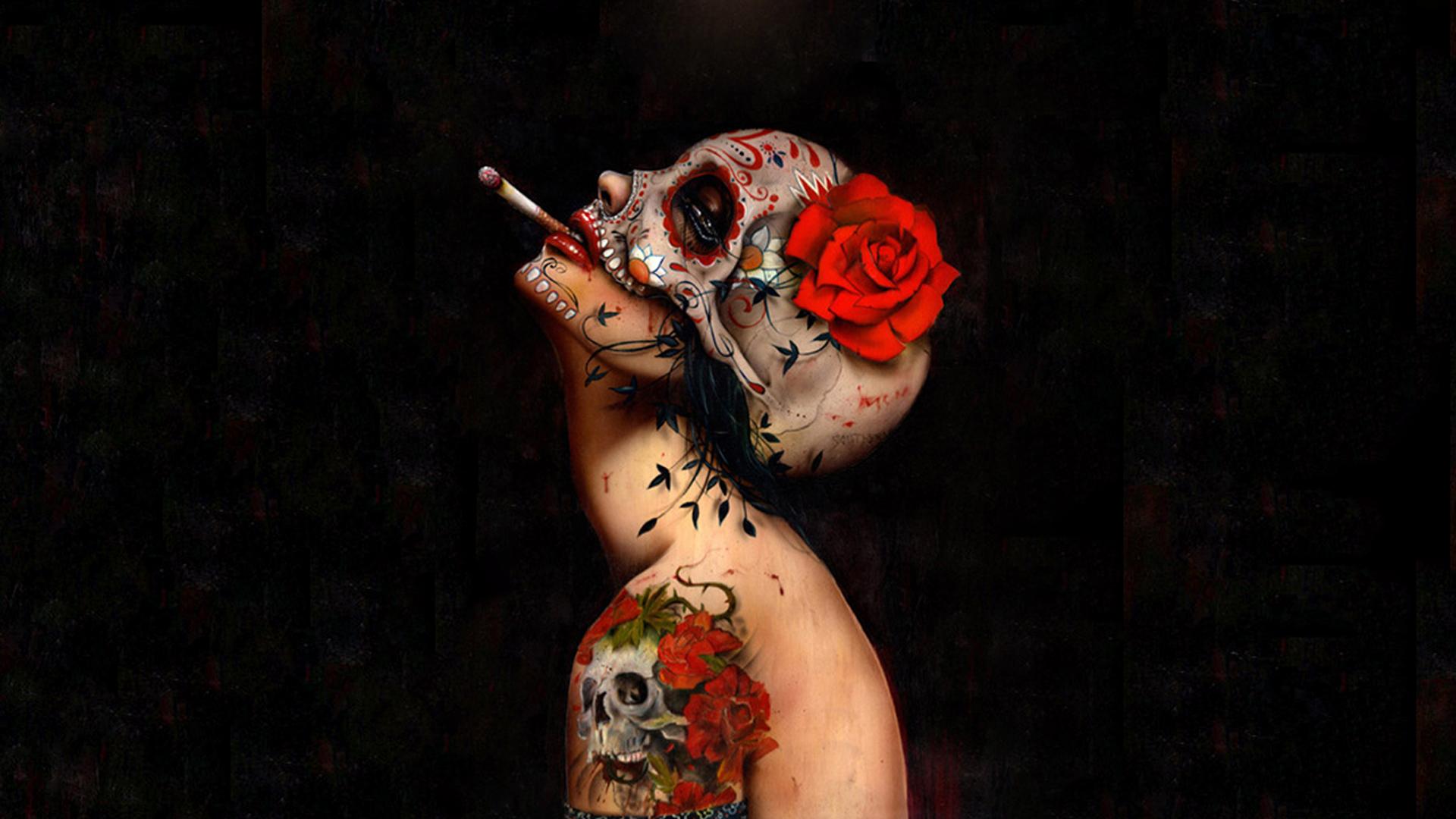 Sugar skull hd wallpaper background image 1920x1080 id 633277 wallpaper abyss - Sugar skull background ...