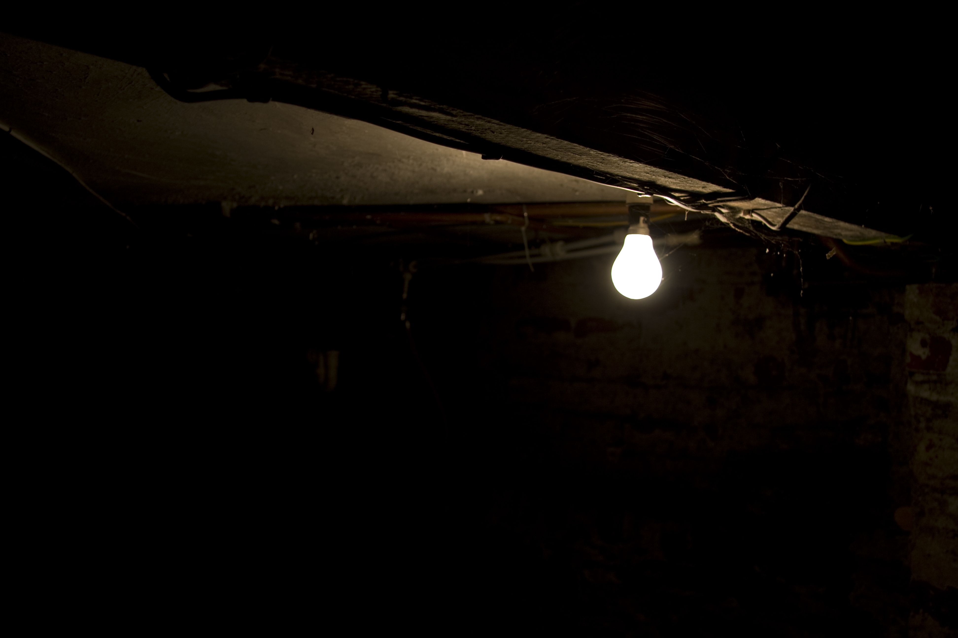 Dark room with light bulb - Hd Wallpaper Background Id 63519 3888x2592 Man Made Light Bulb