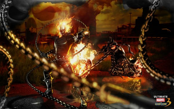Videojuego Ultimate Marvel vs. Capcom 3 Ghost Rider Marvel Comics Fondo de pantalla HD | Fondo de Escritorio