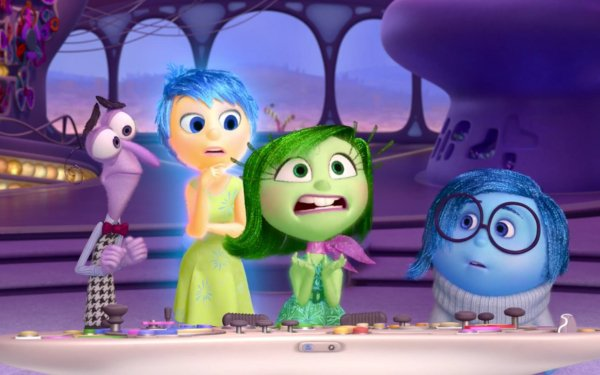 Movie Inside Out Fear Joy Disgust Sadness HD Wallpaper | Background Image