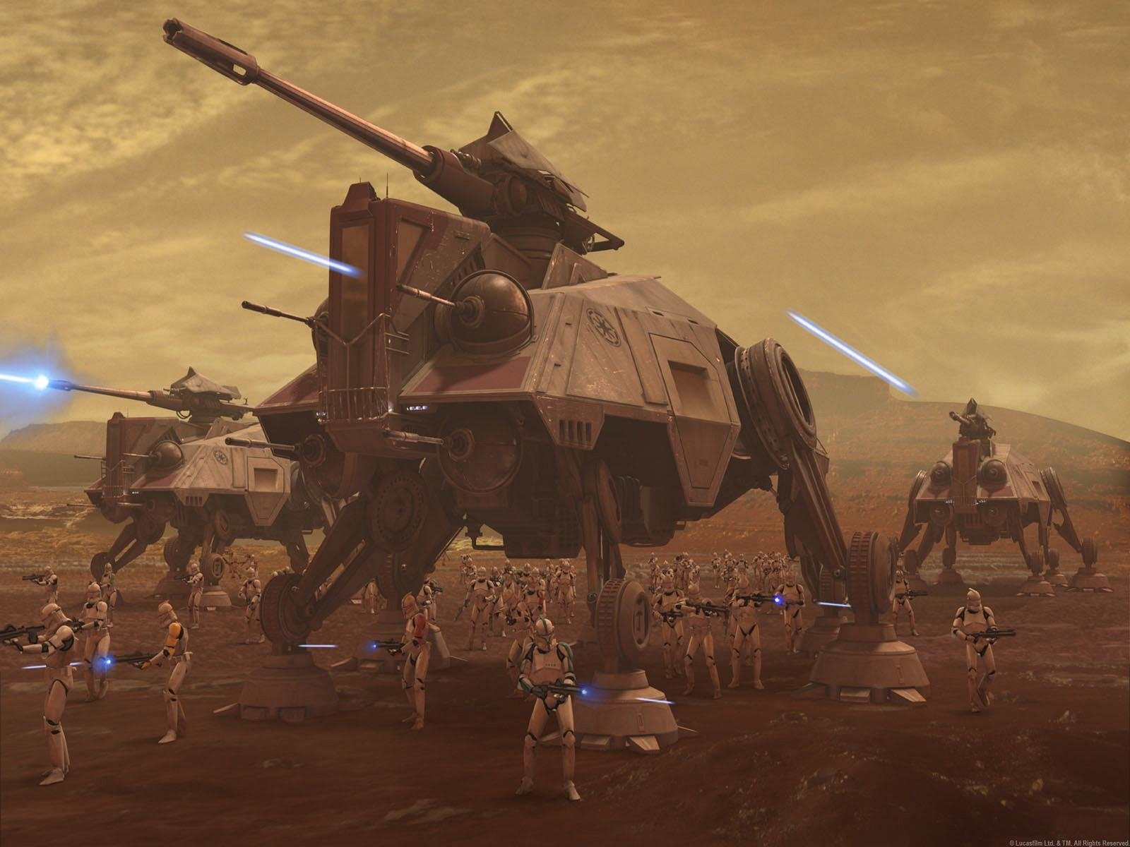 Movie - Star Wars: The Clone Wars  AT-TE Clone Trooper Wallpaper