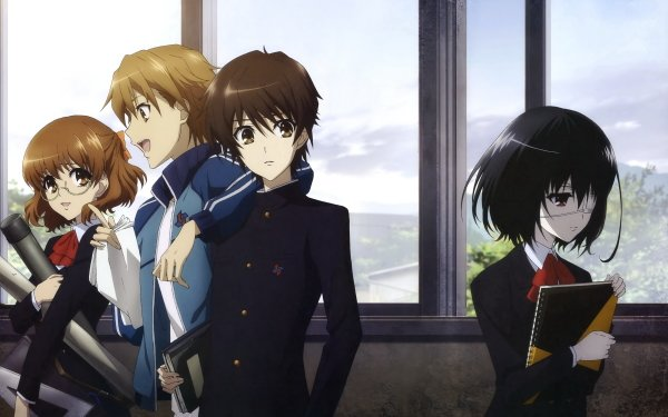 Anime Another Mei Misaki Yukari Sakuragi Naoya Teshigawara Kouichi Sakakibara Fondo de pantalla HD | Fondo de Escritorio