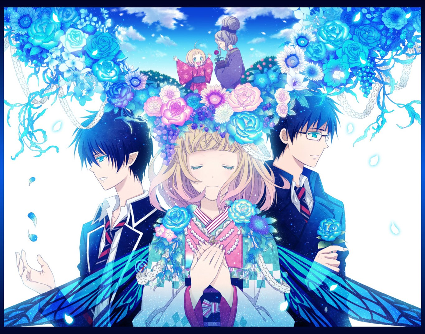 Rin,Yukio And Shiemi Wallpaper And Background Image