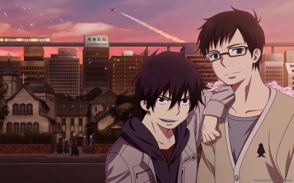 Anime Blue Exorcist Ao No Exorcist Rin Okumura Yukio Okumura Shiro Fujimoto Glasses Black Hair HD Wallpaper | Background Image