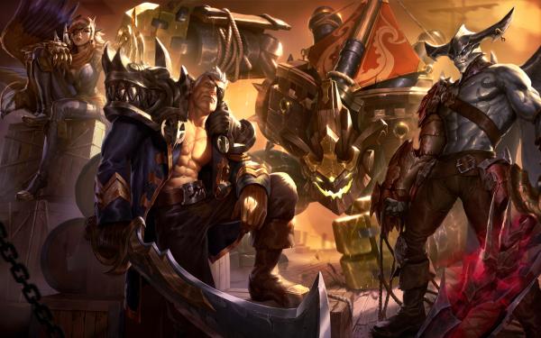 Video Game League Of Legends Malphite Quinn Garen Aatrox HD Wallpaper | Background Image
